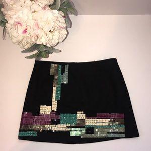 Nanette Lepore  L'Islette Sequin Linen Mini Skirt